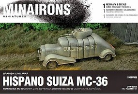 Minairons 1/100 Spanish Civil War- Hispano Suiza MC36 Armored Truck (1) (Resin)