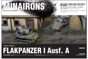Minairons 1/100 WWII Flakpanzer I Ausf A Tank (2) w/Crew (Plastic w/Resin Parts)