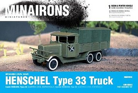 Minairons 1/56 Spanish Civil War- Henschel Type 33 Truck (1) (Resin)