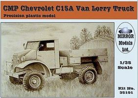 Mirror CMP C15A Van Lorry Truck Plastic Model Military Vehicle 1/35 Scale #35101