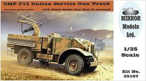Mirror CMP F15 Italian Service Gun Truck Plastic Model Military Vehicle 1/35 Scale #35107