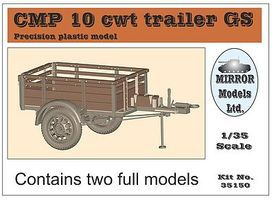 Mirror CMP 10GS cwt Trailer (2) Plastic Model Military Vehicle 1/35 Scale #35150