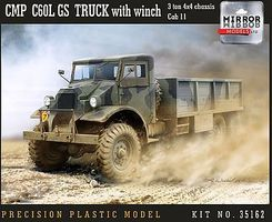 Mirror CMP C60L Cab 11 GS 3-Ton 4x4 Truck Plastic Model Military Vehicle 1/35 Scale #35162