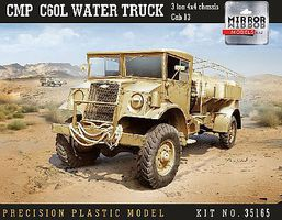 Mirror CMP C60L Cab 13 3-Ton 4x4 Water Truck Plastic Model Military Vehicle 1/35 Scale #35165