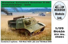 Mirror Russian Artillery Tractor T20 Komsomoletz Late Plastic Model Military Vehicle 1/35 #35201