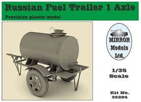 Mirror Russian 1-Axle Fuel Trailer Plastic Model Military Vehicle 1/35 Scale #35204