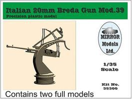 Mirror Italian 20mm Mod 39 Breda Gun (2) Plastic Model Weapon 1/35 Scale #35300