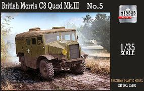 Mirror British Morris C8 Quad Mk III No.5 Artillery Plastic Model Military Vehicle 1/35 #35400