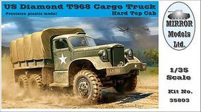 Mirror US Diamond T 968 Hardtop Cab Cargo Truck Plastic Model Military Vehicle 1/35 Scale #35803