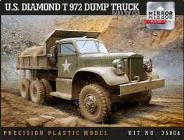 Mirror US Diamond T 972 Dump Truck with Hardtop Cab Plastic Model Military Vehicle 1/35 #35804