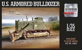 Mirror US Army Military Armored Bulldozer Plastic Model Military Vehicle 1/35 Scale #35852