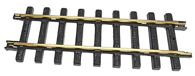 New Bright (bulk of 6) Brass Track Straight - G-Scale