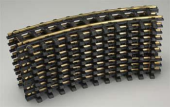 New Bright (bulk of 6) Holiday Express Curved Track (6) -- G Scale Brass Model Train Track -- #21000