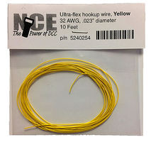 NCE 30 AWG Yellow 10 Ultra Flex Model Railroad Hook Up Wire #254