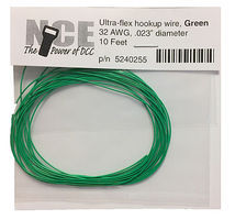 NCE 30 AWG Green 10 Ultra Flex Model Railroad Hook Up Wire #255