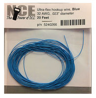 NCE 32 AWG Blue 10 Ultra Flex Model Railroad Hook Up Wire #266