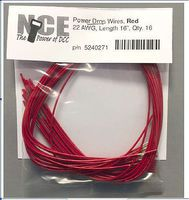 NCE Power Drop Wires Red (16) 22 AWG Model Railroad Hook Up Wire #271