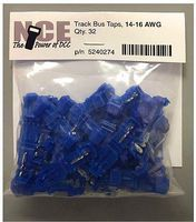 NCE Track Bus Taps Blue (32) Model Railroad Electrical Accessory #274
