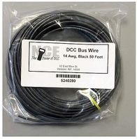 NCE DCC Main Bus Wire Black 14 AWG 50 Feet Model Railroad Hook Up Wire #280