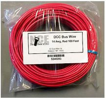 NCE DCC Main Bus Wire Red 14 AWG 100 Feet Model Railroad Hook Up Wire #283