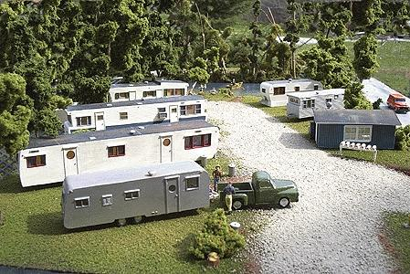 1950s Mobile Home Park Unpainted Kit 6 Trailers Work