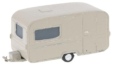 Neal's N-Gauging Trains American Automobiles -- 1950s Single Axle Camper - N-Scale