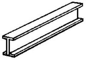 NE-Scale-Lumber (bulk of 50) I beam 1/16x22l