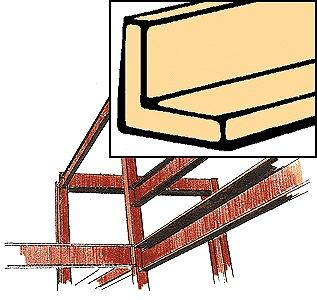 Northeastern Scale Lumber Wood Angles (22'' x 1/32 x 1/32'') Qty 5 -- Model Railroad Scratch Supply -- #70499