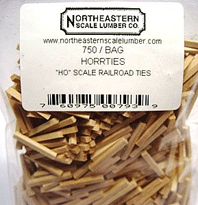 NE-Scale-Lumber Railroad Ties Qty 750 HO Scale Model Railroad Scratch Supply #793
