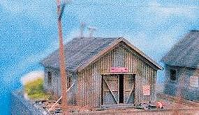 NE-Scale-Models Storage Shed N Scale Model Railroad Building Kit #30002
