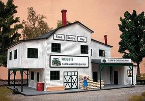 NE-Scale-Models Farm & Garden Supply N Scale Model Railroad Building Kit #30018