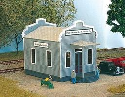NE-Scale-Models First National Bank & Trust Co. N Scale Model Railroad Building Kit #30021