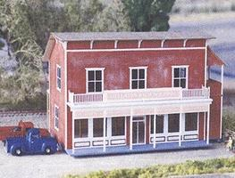 NE-Scale-Models Old Fashion General Store N Scale Model Railroad Building Kit #30024