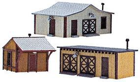 NE-Scale-Models Outbuilding 3-Pack N Scale Model Railroad Building Kit #30030