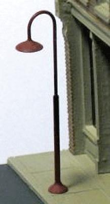 Ngineering 18' Curved-Neck Streetlight Kit (8) -- Model Railroad Lighting Kit -- N Scale -- #nk0161