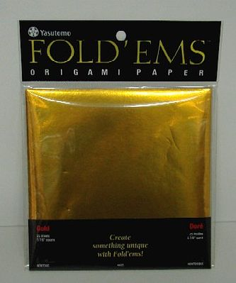 Niji Origami Paper- 25 Gold Sheets (5-7/8''sq.)