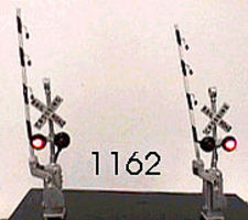 NJ Crossing Gate Signals - Assembled - Crossbuck HO Scale Model Railroad Accessory #1162