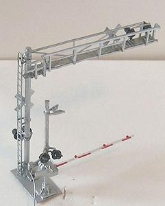 NJ Modern Combo Crossing - Over the Road Gantry Plus Gate HO Scale Model Railroad Accessory #1192