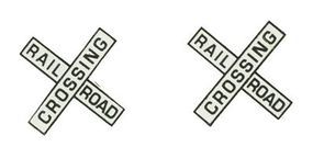 NJ Railroad Crossing Crossbucks Only HO Scale Model Railroad Trackside Accessory #1261