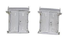 NJ Lineside Signal Cabinets 1 Pair - Large HO Scale Model Railroad Trackside Accessory #1359