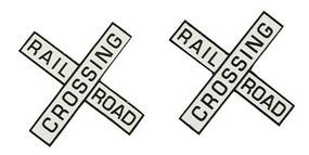 NJ Railroad Crossing Crossbucks Only (No Mast) O Scale Model Railroad Trackside Accessory #3261