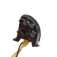 NJ Pennsylvania Railroad-Style Dwarf Signal Brass w/LEDs Right Hand (black) O-Scale