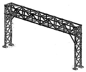 NJ International 3-4 Track Standard Signal Bridge Kit -- N Scale Model Railroad Trackside Accessory -- #4207