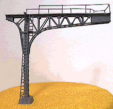 NJ International Signal Bridge Cantilever Single Track (black) -- N Scale Model Railroad Bridge -- #4212