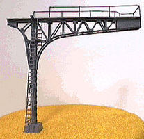 NJ Signal Bridge Cantilever Single Track (black) N Scale Model Railroad Bridge #4212