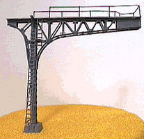 NJ Signal Bridge Double Track (Silver) N Scale Model Railroad Bridge #4213