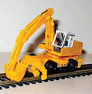NJ Railroad Backhoe Kit HO Scale Model Railroad Vehicle #6107
