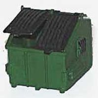NJ Standard Trash Container w/Opening Split Lid (2) HO Scale Model Railroad Accessory #6601