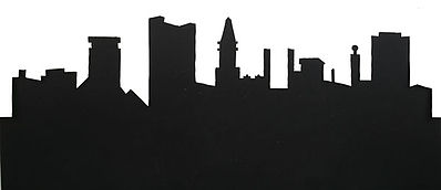 New-London The City Background Scene Stencil Set (4) Model Railroad Scenery Supply #3