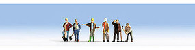 Noch Construction Workers w/Speaker & Figures HO Scale Model Railroad Figure #12841